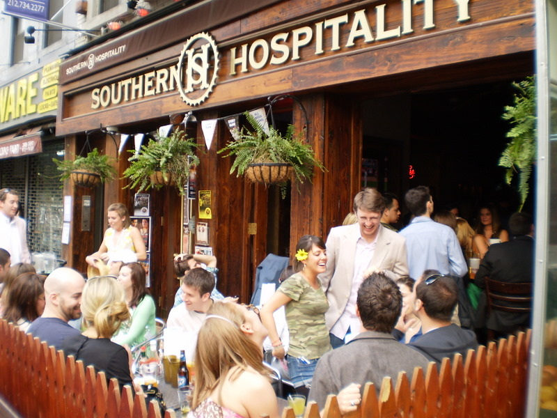 Outside Seating At Southern Hospitality Bbq In The Upper East Side
