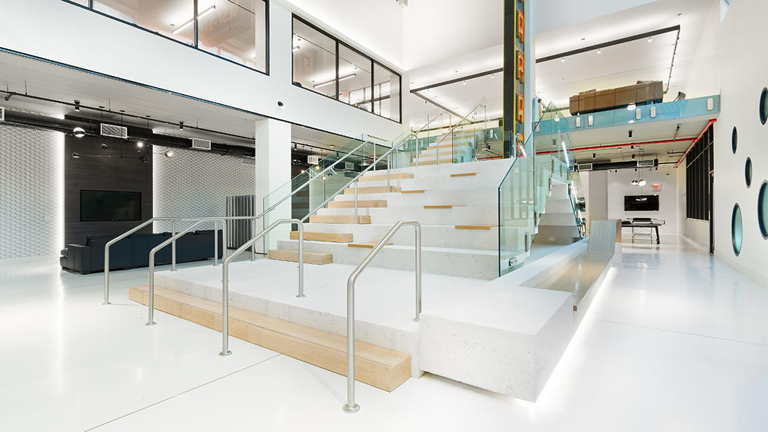 606 w 57th st the max social staircase